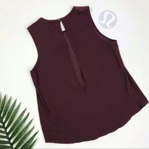 Lululemon Here to There Tank Bordeaux Drama Size 6